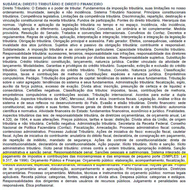 Lei do Simples, revogada desde 2006, é exigida no edital para consultor legislativo do Senado em edital da FGV